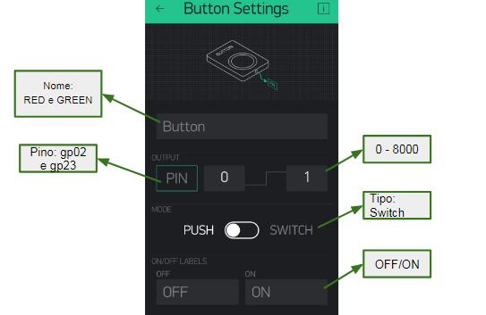 A ferramenta Button dispõe de diversas opção de configuração para o funcionamento do controle mobile.