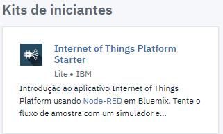 A opção internet of things facilita o desenvolvimento de servidores de automação.