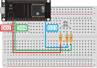 LED RGB possui polaridade, se for anodo conecte ao positivo, catodo ao negativo.