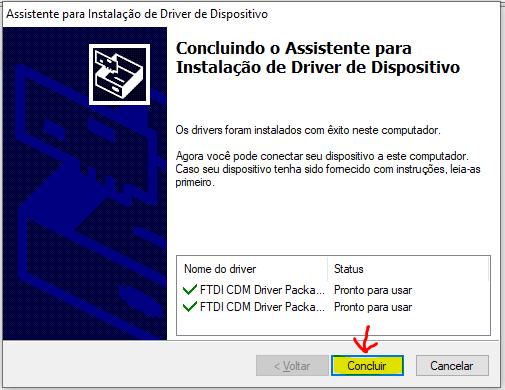 Figura 10 -Passo 6 para baixar o driver da FTDI