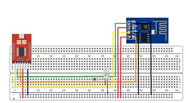 Figura 19- Conexão do FTDI com o ESP-01 no Modo Programação
