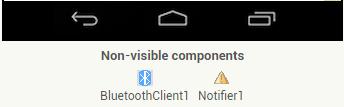Alguns componentes serão inseridos de forma invisível, influenciando apenas no funcionamento do APP;
