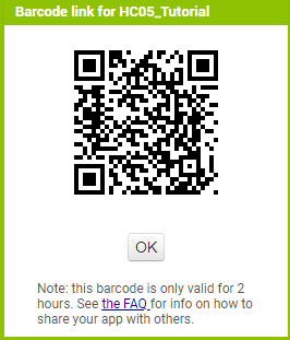 O download do aplicativo poderá ser realizado diretamente através da leitura de um QRCode.