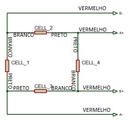 ponte de wheatstone para quatro células