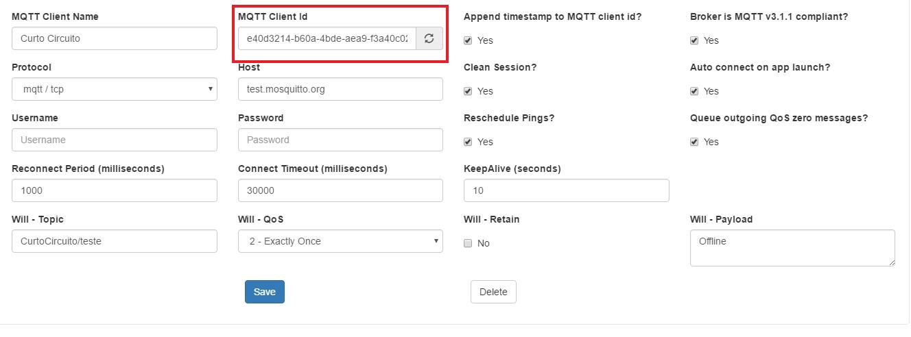 MQTT Client ID