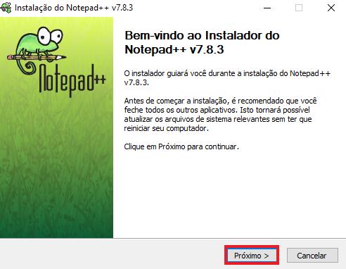 Notepad++ instalação