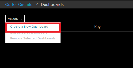 create a new dashboard no adafruit.io