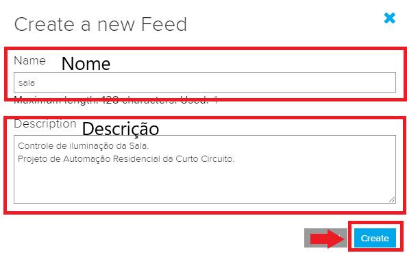 detalhes feed adafruit.io