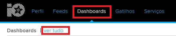 visualização de dashboard adafruit.io
