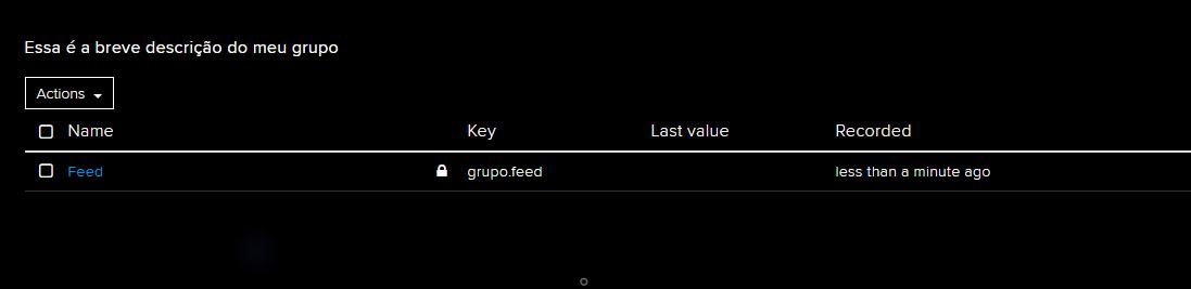 grupo e feed adafruit.io