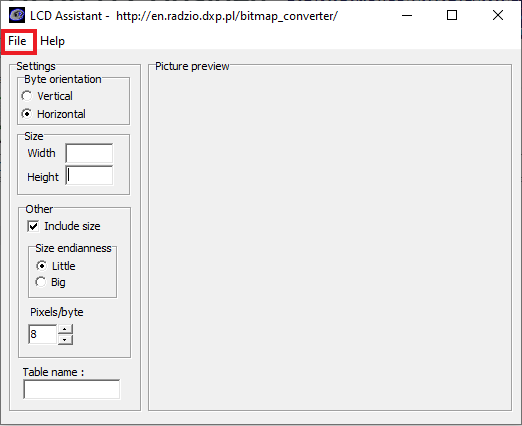 como usar lcd assistant